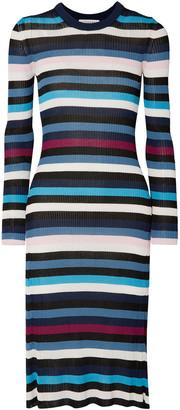 Altuzarra Stills Striped Ribbed-knit Midi Dress