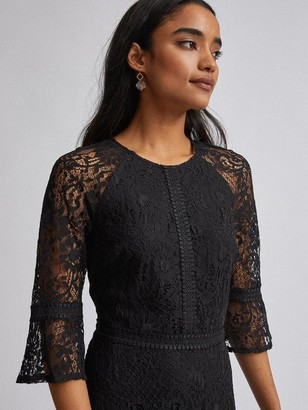 Dorothy Perkins Petite Tilly Fit And Flare Dress Black