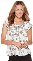 M&Co Frill sleeve floral shell top