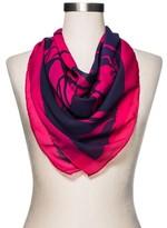 Merona Women's Fashion Floral Scarf Cobalt