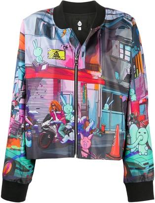 Natasha Zinko Graphic Print Loose Fit Bomber Jacket