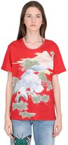 Gucci Eagle Printed Linen Jersey T-Shirt