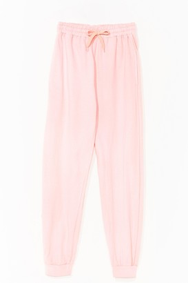 Nasty Gal Womens Keep a Wash Out High-Waisted Joggers - Pink - L