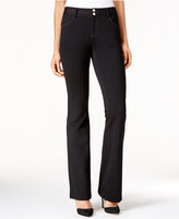 INC International Concepts Contrast-Stitch Bootcut Pants, Only at Macy's