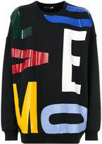 Love Moschino bold letter sweatshirt - men - Cotton/Spandex/Elastane - S