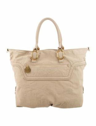 Stella McCartney Vegetarian Suede Duffle Bag Gold