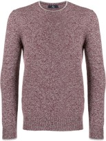 Fay melange fitted sweater