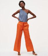 LOFT Wide Leg Pants in Linen Cotton