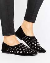 Pull&Bear Pull & Bear Eyelet Detail Flat Shoe
