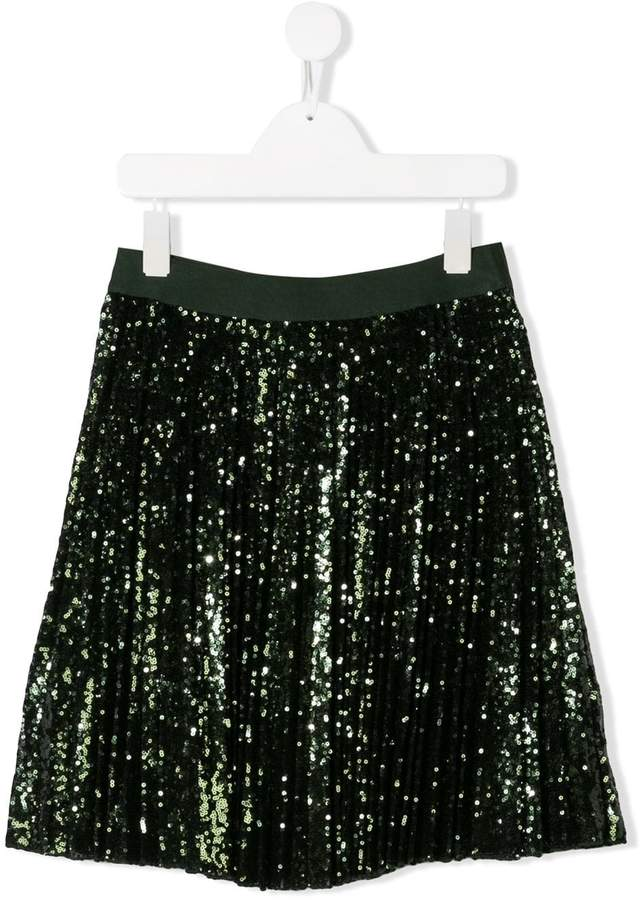 MonnaLisa TEEN pleated sequin skirt
