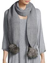 Faux Fur Knit Scarf
