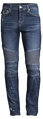 True Religion Men's Rocco Moto Super Stretch Jeans