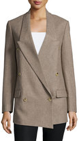 Michael Kors Double-Breasted Crossover Boyfriend Jacket, Java
