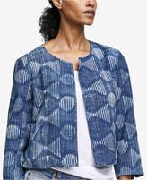 Eileen Fisher Organic Cotton Printed Jacket, Regular & Petite