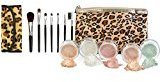 LEOPARD KIT w/ BRUSH BAG SET Mineral Makeup Bare Face Sheer Powder Matte Foundation Cover by Sweet Face Minerals (Beige)
