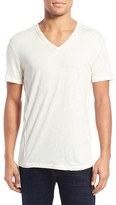 John Varvatos Men's Pintuck V-Neck T-Shirt