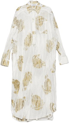 Lanvin Oversized Printed Shirt Dress