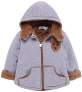 Happy Cherry 18-24 Months Toddler Baby Winter Warm Fashion 3D Bear Hoodie Outwear