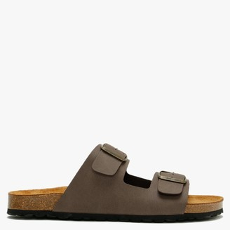 Daniel Mariz Brown Two Strap Sandals