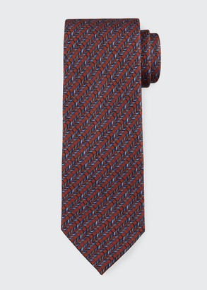 Brioni Men's Multi Diagonal Rope Silk Tie