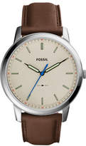 Fossil The Minimalist Brown Watch