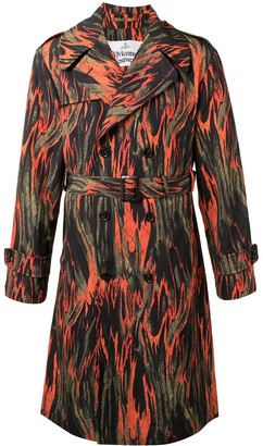 Vivienne Westwood Flame-Print Trench Coat