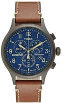 Timex EXPEDITION GRID SHOCK Chronograph watch blue/brown