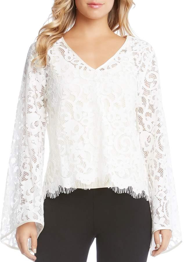 Karen Kane Bell Sleeve Lace Top