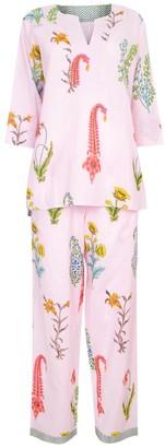 Nologo Chic Botanical Pj - Pure Cotton - Dusky Pink