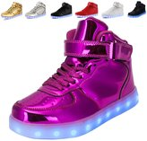 Anluke 11 Colors LED Sneakers Light Up Flashing Shoes for Christmas Boys Girls Men and Women 35