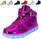 TULUO Kid & Men & Woman USB Charging LED 7 Colors High Top Sneakers Light up shoes 5 B(M) US Women / 3.5 D(M) US Men / 36 EU