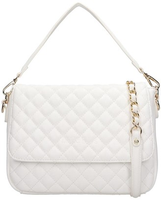Dakota Marc Ellis Shoulder Bag In White Leather