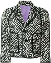 DSQUARED2 animal print cropped jacket