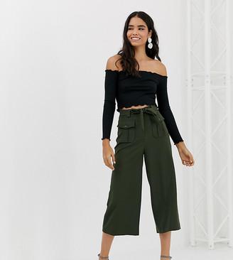 New Look utility crop pants in khaki