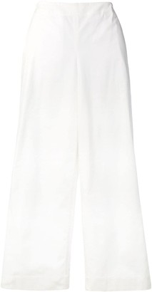 Theory high-waist flared trousers