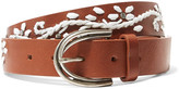 Maje Embroidered leather belt