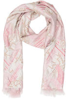 Dries Van Noten Silk Embellished Scarf