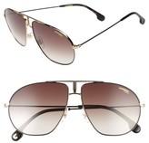 Men's Carrera Eyewear Bounds 62Mm Gradient Aviator Sunglasses - Black Gold