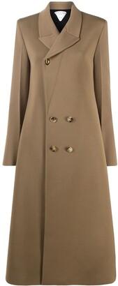 Bottega Veneta Double-Breasted Mid-Length Coat