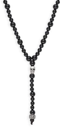 Jean Claude Black Agate Lariat Necklace
