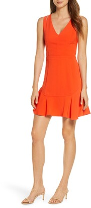 Adelyn Rae Taliya Cutout Detail Sleeveless Fit & Flare Dress