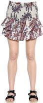 Etoile Isabel Marant Ruffled Paisley Cotton Poplin Skirt