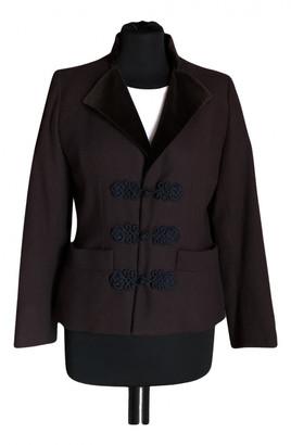 Saint Laurent Burgundy Wool Jackets