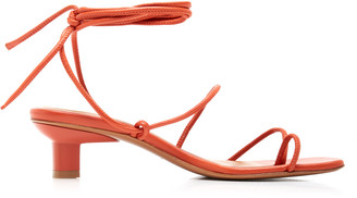LOQ Roma Leather Lace-Up Sandals