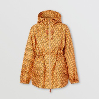 Burberry Unicorn Print Silk Twill Hooded Jacket