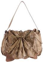 Carlos Falchi Python Shoulder Bag