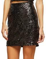 Miss Selfridge Sequin Mini Skirt
