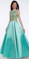 Camille La Vie Metallic Applique Mikado Ball gown Prom Dress