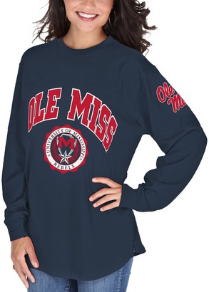 Women's Navy Ole Miss Rebels Edith Long Sleeve T-Shirt