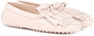 Tod's Gommino leather fringe loafers